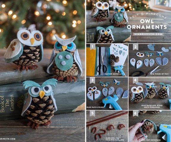 šišky the-perfect-diy-30-homemade-christmas-ornaments11